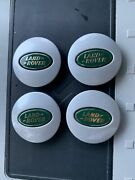 Genuine Oem Land Rover Wheel Center Cap Green/silver And Logo Silver T1201 4pc