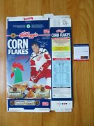 1996 Gordie Howe Signed Kellogg's Corn Flakes Cereal Box Psa Detroit Red Wings