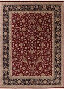 All-over Floral Aubusson Area Rug Wool And Silk Hand-made Chinese Carpet 9x12