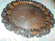Eg Webster And Son Egwands Serving Tray Rococo 21diameter 7.5 Pounds C. 1890and039s