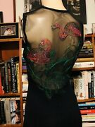 Xtrmly Rare St. John Couture Set 2 Sister Gowns Flamingos/frogs 2/4