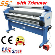 55 Entry Level Full-auto Heat Assisted Wide Format Cold Laminator With Trimmer