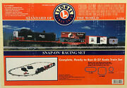 Snap On Racing Lionel 0-27 Scale Electric Train Set W/extra Billboard And Car 2001