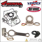 Complete Kit Connecting Rod Bearings Gaskets Oil Seals Honda Cr 80 R 1989 1990