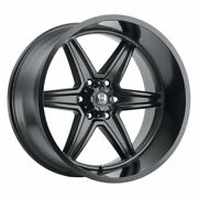 In Stock 4- 22x10 Hostile Venom Asphalt Black H117 Wheels 6x5.5 Chevy 6x139.7