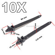10x Cable Holder Hose Attachment Cable Harness, Releasable Cable Strap For Mazda