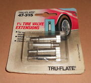 Lot Of 4 New Tru-flate 47-315 1-1/4 Tire Valve Extensions Super Fast Shipping
