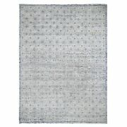 9and0391x11and0399 Snow Flake Design Tone On Tone Woolen Handknotted Oriental Rug G47834