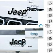 Jeep Front And Rear Emblem Overlay Decals For Jeep Grand Cherokee
