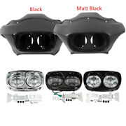 Inner Outer Fairing W/5.75and039and039 Dual Led Headlight For Harley Road Glide 1998-2013