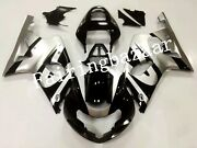 Fit For Gsxr1000 2000 2001 2002 Silver Black Abs Plastic Injection Fairing Kit