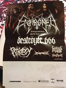 Enthroned / Destroyer 666 - 2010 Tour Poster