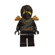 New Lego Cole - Rebooted With Armor And Hair From Set Book Ninjago Njo270