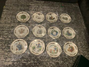 Rare Royal Gallery All The Days Of Christmas Complete Set Of 12 Dessert Plates
