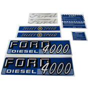Tractor Complete Decal Kit Made Fits Ford 4000 Diesel 1962-1964 Select-o-speed