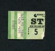 1978 Styx Concert Ticket Stub New Orleans La The Grand Illusion Come Sail Away