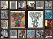 Wholesale Of 1 - 50 Multi Elephant Tapestry - Wall Hanging Mandala Tapestries