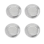 4pcs Round Vent Blower Cover For Caravans / Boat / Marine Stainless Steel
