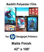 Gloss Translucent Backlit For Hp Designjet Aqueous Inkjet Printers 42 X 100and039