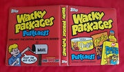 2010 Topps Wacky Packages Postcards Official Red Binder  @@ Rare @@