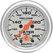Autometer Amt-4354 Gauge, Ultra-lite, Water Temperature, 2 1/16 In., 260 Degrees
