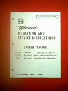 Wizard Mtd Garden Tractor Models Mtd 7608a37 And Mtd7610a37 Service / Parts Manual