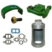 Fits John Deere 520 530 New Intake Exhaust Manifold W/ Gaskets Heat Exchanger And