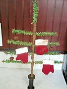Primitive Christmas Small Faux German Feather Tree With Ornies
