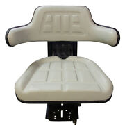 Grey Universal Tractor Seat With Adjustable Weight Suspension