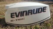 Evinrude E-tec 30 Hp Outboard Boat Motor Cowling Cowl Hood Cover White Brp Nos