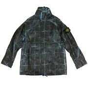 Nwt Stone Island Blue Paper Poly Si House Check Grid Jacket Size Xxl 1135