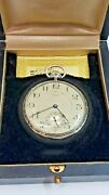 E. Howard 14k White Gold Pocket Watch With Original Box And Papers