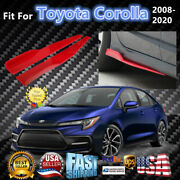 Fits Toyota Corolla 2008-2020 Red Side Skirts Splitters Spoiler Diffuser Wings