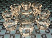 Antique Service Chic Compound D' A Bowl And 8 Bowls In Crystal Sevres