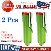 2 Pack Replacement Snap-on Battery Ctb5172 7.2v Ni-mh 7.2 Volt