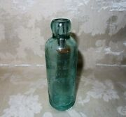 Antique James Walsh Soda Bottle 1800and039s Embossed Toronto Beaver And Crown