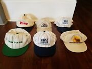 6 Vintage K-product Snapback Hats, John Deere, Quail Unlimited, First State