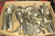 Big Lot 402 Pieces Silverplate Flatware,forks,knives,spoons,jewelry,flatware