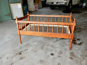 Antique Solid Tiger Maple Childs Or Dolls Bed Crib Circa 1840