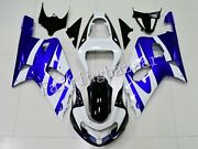 Fit For 01-03 Gsxr600 2000-03 Gsxr750 Blue White Black Abs Injection Fairing Kit