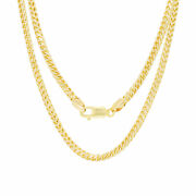 10k Yellow Gold Solid 4mm Mens Round Wheat Franco Chain Pendant Necklace 18-30