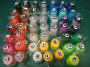 Isacord Polyester 47 Cones Lot Embroidery Thread New 5000 Meter Cones