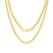 10k Yellow Gold Solid Mens 4mm Round Wheat Box Franco Chain Pendant Necklace 20