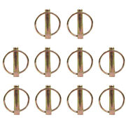 Set Of 10 7/16 Implement Lynch Pins Fits Three-point Tractor Hitches