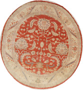 Decorative Oval Floral Oushak Oriental Area Rug Wool Hand-knotted 9x11 Carpet