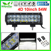 4d 10inch 54w Cree Led Work Light Bar Flood Spot Combo For Car Suv Offroad Truck