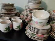 Desert Rose Franchsian Dishes Made In Usa And England 6 Place Setting / Serving