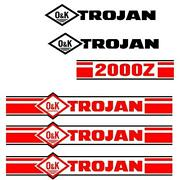 Trojan Wheel Loader 2000z Black And Red Decal Set With O And K Decals