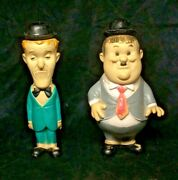Vintage Stan Laurel And Oliver Hardy Figures Larry Harmon Pics.corp.1962 Dell