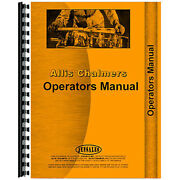 New Operator's Manual Fits Allis Chalmers B112 Lawn And Garden Tractors